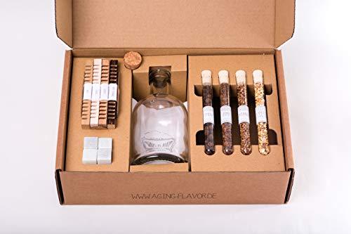 Aging & Flavor Geschenk Set - Whisky, Gin & Co in nur 24 Stunden veredeln