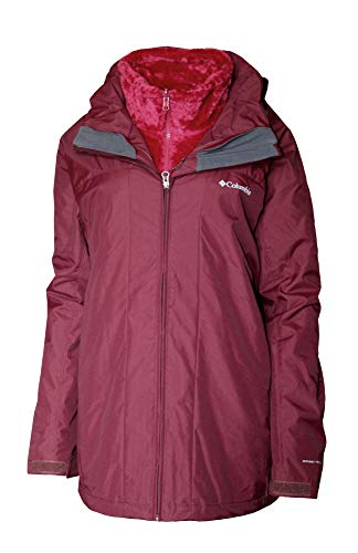 Columbia Arctic Trip 3 in 1 Interchange III Omni Heat Winter Jacket Women's Plus Extended Coat (Rich Wine, 1X)