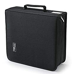 in budget affordable 264 CD / DVD case holder, storage space, CCidea (black) special cover