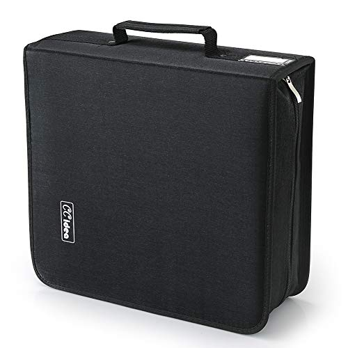 264 Capacity CD/DVD Case Holder, Storage, Binder by CCidea (Black)
