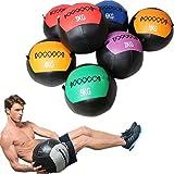 YZBBSH Wall Ball Balón Medicinal Antideslizante Suave de PU Slam Ball Peso Opcional 2kg 3kg 4kg 5kg 6kg 7kg 8kg 9kg 10kg 11kg 12kg para Entrenamiento de la Fuerza,Solid Core 2kg