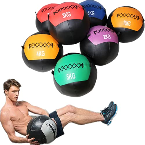 YZBBSH Wall Ball Balón Medicinal Antideslizante Suave de PU Slam Ball Peso Opcional 2kg 3kg 4kg 5kg 6kg 7kg 8kg 9kg 10kg 11kg 12kg para Entrenamiento de la Fuerza,Solid Core 3kg