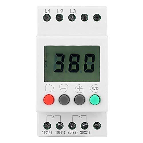 Relé de protección de secuencia de fase, DFY-5 Pantalla LCD Bajo voltaje Protector de secuencia de fase Relé de monitor de voltaje trifásico