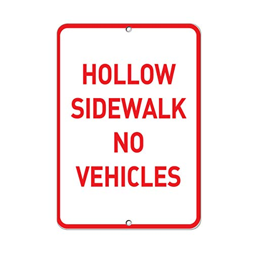 Vertical Metal Sign Multiple Sizes Hollow Sidewalk No Vehicles Parking Home Wall Tin Sign 30x20cm Decoration