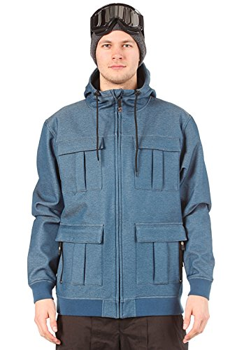 Dane Softshell Jacket Blue Denim L Bleu - Jean Bleu