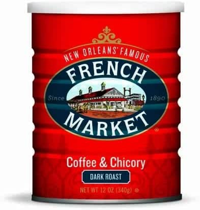 French Market Coffee Chicory City Roast Dark Roast 12oz Can 2pack product image