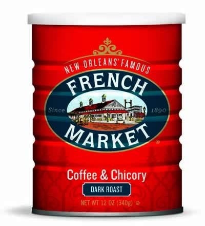 French Market Coffee & Chicory City Roast (Dark Roast) 12oz Can-2pack