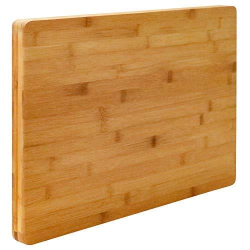 EYEPOWER XL Tabla de Cortar de Bambú 50x35x3cm Tabla de Cocina de Madera