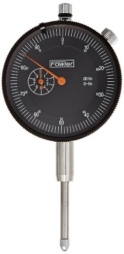 Fowler 52-520-109 AGD Dial Indicator, Black Face, 1' Travel, 2.25'...
