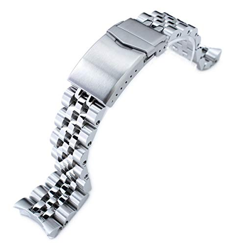 MiLTAT 22mm Watch Band compatible with Seiko SKX007 SKX009, Angus-J Solid Screw-Links