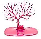 Soporte de joyería, collar, pulsera, soporte, soporte de pendiente, soporte de exhibición de almacenamiento en forma de árbol de asta de bosque para colgar o exhibir joyas, pulsera, soporte de collar