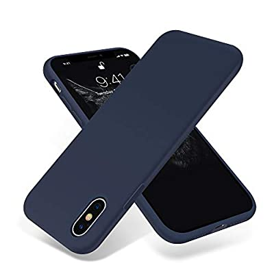 OTOFLY for iPhone Xs Max Case, [Silky and Soft Touch Series] Premium Soft Silicone Rubber Full-Body Protective Bumper Case Compatible with Apple iPhone Xs Max 6.5 inch - (Midnight Blue)