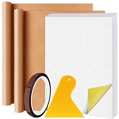 "HIRALIY Printable Sublimation Paper 100-Sheet Heat Transfer Light-colored T-shirt Iron-on 8.3x11.7"" for Epson HP Canon Sawgrass Inkjet Printer with 2 Teflon Sheet 1 Heat Tape 1 Scraper"