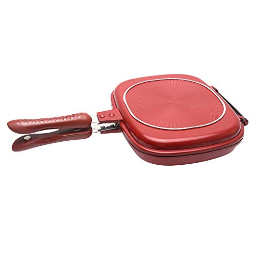 Double-sided Frying Pan, Professional Non-stick Pancake Baking Omelette Pan Flip Pan, Square Grill Cookware for Indoor and Outdoor Cooking