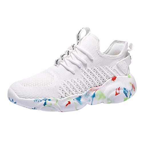 Goddessvan 2019 Mens Sneakers Ultra Lightweight Mesh Athletic Running Walking Gym Shoes White