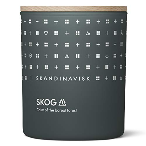 Skandinavisk SKOG 'Forest' Scented Candle. Fragrance Notes: Pine Needles and Fir Cones, Birch Sap and Lily of the Valley. 200 g.