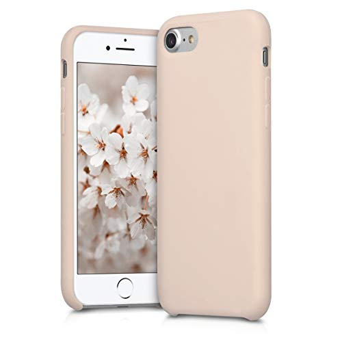 kwmobile Hülle kompatibel mit Apple iPhone 7/8 / SE (2020) - Handyhülle gummiert - Handy Hülle in Rosegold matt