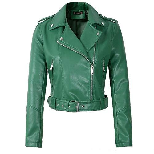 HAHAQZ Women'S Leather Jacket,Fashion Trend Classic Autumn Spring Zipper...