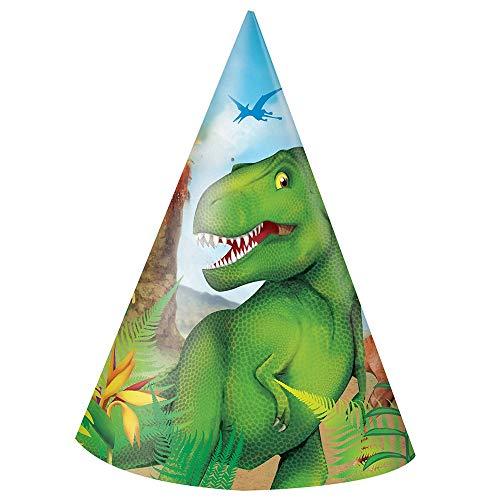 Verjaardagsfeestaccessoire dinosaurus Party-hoeden Eén maat multicolor