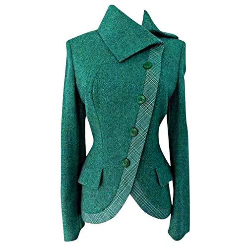 TEFIIR Weihnachtseinkäufe Damen Mantel Elegante Revers Winterjacke Zweireihiger Dufflecoat Unregelmäßiger Saum Oberteil Casual Outwear Coat Jacke Schlank Lang Wintermantel