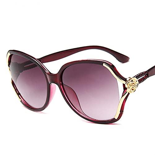 FDNFG Gafas de Sol Mujer Gafas de Sol Conducción Gafas de Sol Classic Ladies UV400 Gafas de Sol (Lenses Color : Winered)