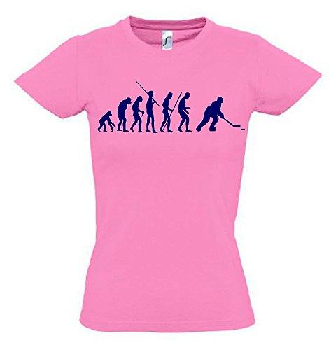 Eishockey Evolution Kinder T-Shirt pink-Navy, Gr.152cm