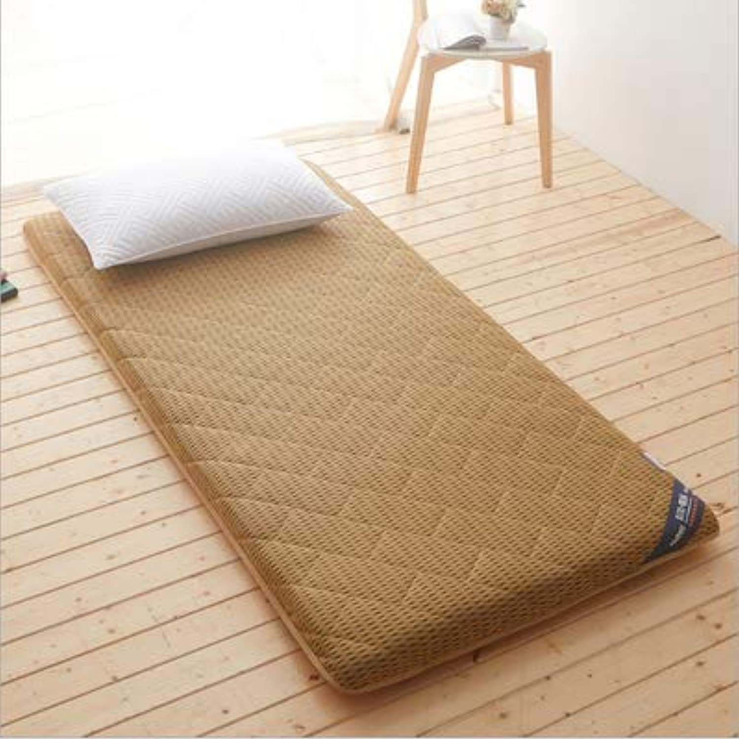 Breathable Mattress Collapsible, Softness Comfortable Futon Single Sleeping Pad for Bedroom School Dormitory-d 100x190x6.5cm(39x75x3inch)