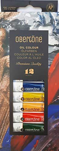 Obertone Premium Set de 12 Tubos de pintura Óleo de 12 ml c/u