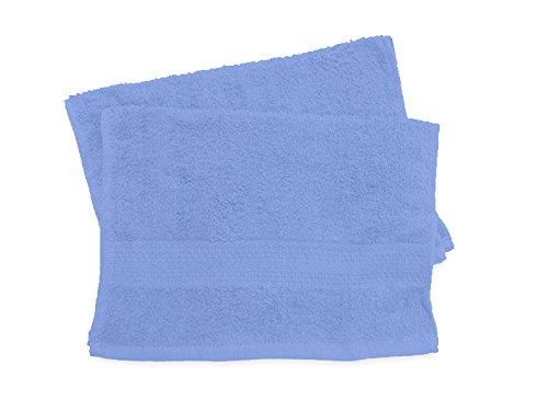 Soleil d'ocre 422105 Douceur Lot de 2 Serviettes Coton Bleu 30 x 40 cm