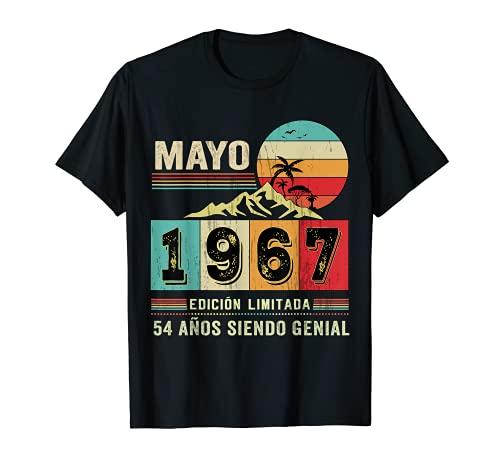 Nacido en Mayo de 1967 54 Años Cumpleaños Regalo para hombre Camiseta