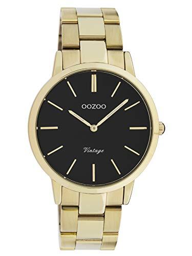 OOZOO Vintage Goudkleurig/Zwart horloge C20035