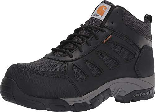 Carhartt Men's Lightweight Wtrprf Mid-Height Work Hiker Carbon Nano Safety Toe CMH4481 Industrial Boot, Black Leathe/Nylon, 12 M US