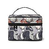 Kakashi Ninja - Bolsa de maquillaje portátil de viaje, bolsa grande de malla, organizador de brochas de maquillaje, bolsa de aseo para mujeres y niñas