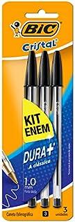 Caneta Esferográfica Cristal Dura+ Preta Kit Enem C/ 3 Un. 930095 BIC