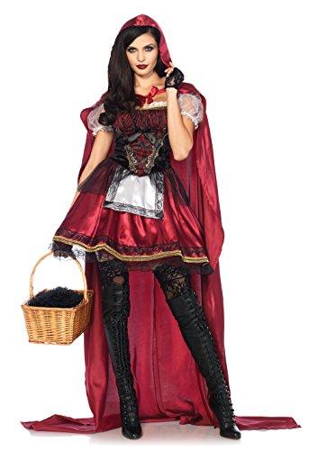 Leg Avenue 85541 2 teilig Set Rotkäppchen, Damen Karneval Kostüm Fasching, M, burgundy