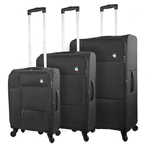 Review Of Mia Toro Italy Tordino Softside Spinner Luggage 3pc Set,black, One Size