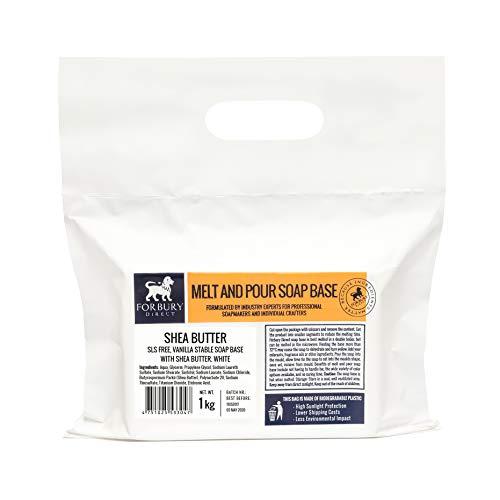 FORBURY DIRECT · ENGLAND · Sheabutter Seifenbasis Rohseife Schmelzen und gießen Seifen 1-12 kg (SLS-frei)