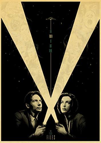 Toile Art 60x80cm Sans cadre The X-Files Affiches Série TV Affiches Rétro Mur Décoratif Image Pour Chambre