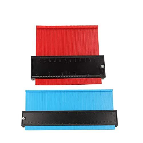 型取りゲージ 幅広タイプ(13cm幅) 2点セット 250mmと120mm 「フルフィルメント by Amazon」 測定ゲージ 測定工具 曲線定規 不規則な測定器 ABSプラスチック製