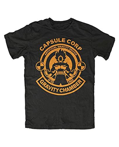Capsule Gravity Tshirt BlaDragonball-Z Son-Goku DBZ roshis Gym Manga T-Shirt Man T-Shirt 100% Cotton Sleeve Shirt Black L