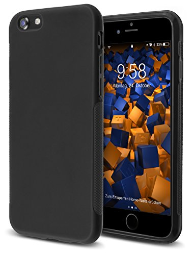 mumbi Hülle kompatibel mit iPhone 7/8 Handy Case Handyhülle Double Grip, schwarz