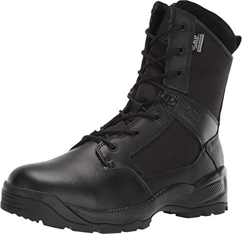 5.11 Men's Tactical ATC 2.0 8-Inch Side Zipper Waterproof Military Boot, Black, 10.5 M US