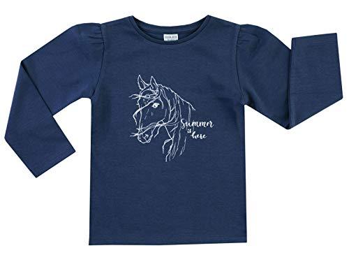 Jacky Langarmshirt für Mädchen, Größe: 62, Alter: 2-3 Monate, Basic Line, Marine (Blau), 6131917
