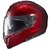 HJC Unisex-Adult Flip-Up i90 Modular Helmet (Wine, Lg)