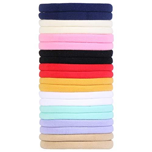 LMVERNA Mix Colors High Stretchy Hair Bands Super Soft Nylon Headband for Newborn Baby Girl Kids (10 Multi-color)