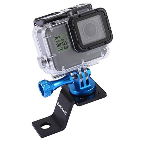 PULUZ Accessori Moto Specchio/bullone Supporto Fisso Metallo Bici Supporto per GoPro Hero 5 4 sessione Nero Argento 4 3 3 2 Sport Action Camera (Blu)