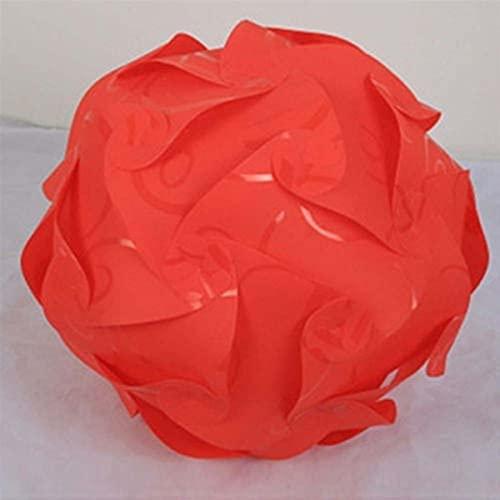 TLBBJ Pantalla de lámpara Lámpara de Techo de 25 cm Puzzle de Rompecabezas Lámpara Shade Creative DIY Lámpara de araña Luz Moda (Body Color : Red)