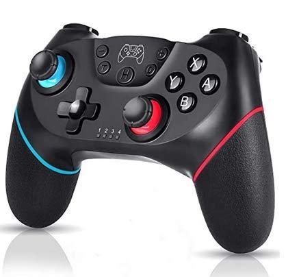 Controller wireless Switch Pro per Nintendo, controller remoto Pro Gamepad, joystick per console Nintendo Switch, turbo e doppia vibrazione e compatibile con Switch Lite (Black+Red)