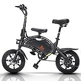 Ebike Adultos, Bicicleta Eléctrica Plegable Alcance 45 km Motor 400 W 14 Pulgadas, 48 V, 3 Modos Conducción, Velocidad Máxima, 45 km / h,Bicicleta Urbana Con Pedal y asiento infantil extraíble, B2