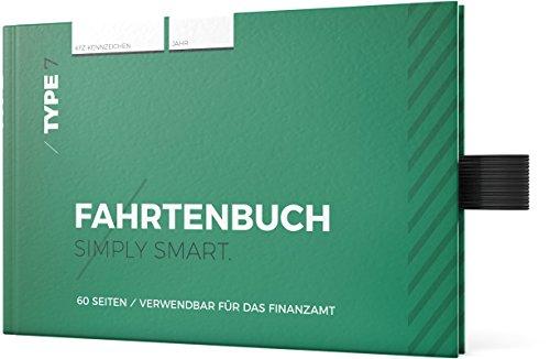Type 7 - Premium-Fahrtenbuch, Hardcover, DIN A6, 112 Seiten, für Finanzamt geeignet - für PKW und LKW - Für Deutschland und Österreich